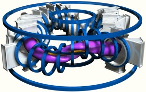 Modelo de TJ-II - Vista lateral sin parte de la cámera